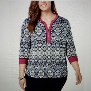 NY Collection Tunic Top NWT Plus Size 2X
